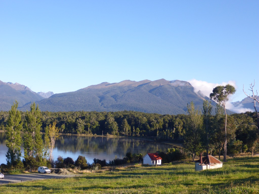 Te Anau Downs , a sheltered harbour and start point for the famous Milford Track