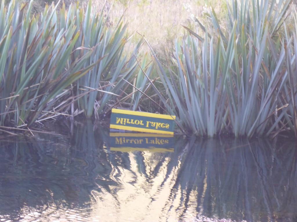 Mirror Lakes - small lakeside tarns with reflected views