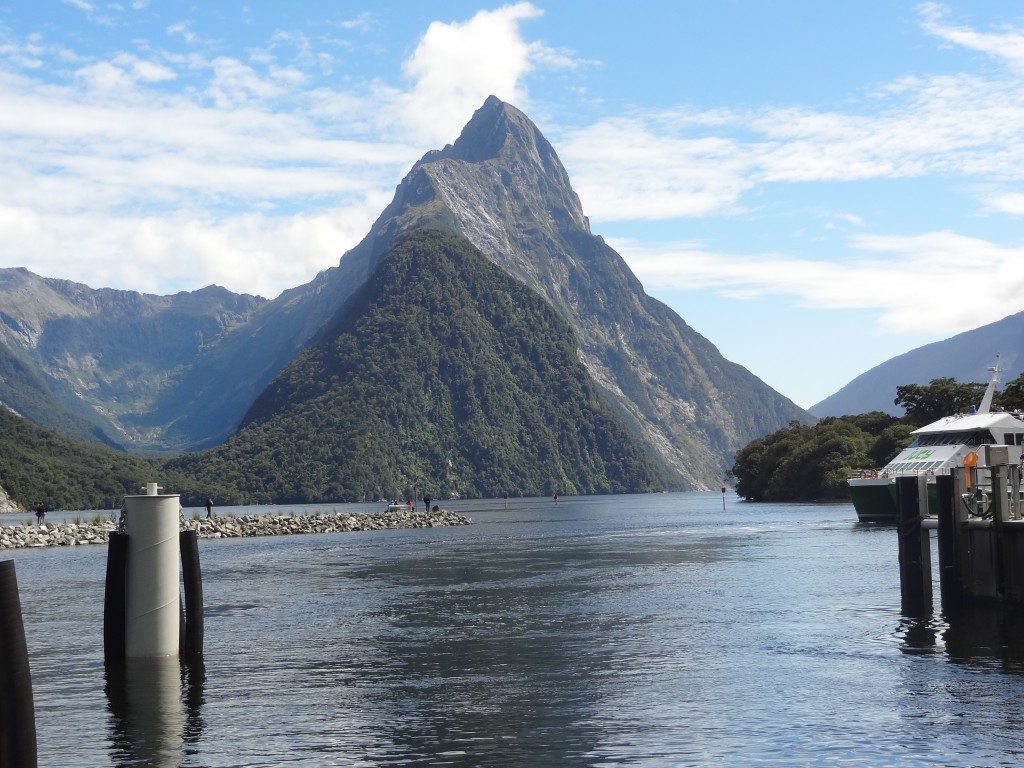 Mitre Peak viewed from the head of the Sound.