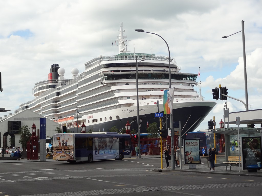Blimey - there's a cruise ship at the end of the street....!